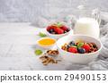 Homemade granola with fresh berries 29490153