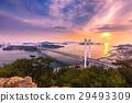 Evening view of Seto Ohashi Bridge 29493309