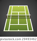 Vector illustration. Tennis court isometric. 29493462