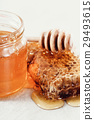 长柄勺 蜂蜜 蜂窝 29493615