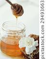 长柄勺 蜂蜜 蜂窝 29493663