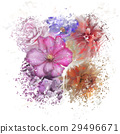 Colorful Flowers Watercolor 29496671