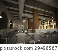 sketch design of   interior restaurant, 3d renderi 29498567