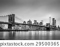 Brooklyn bridge at dusk, New York City. 29500365