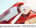Airplane propeller closeup outdoors 29500383