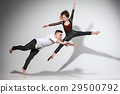 Two people dancing in contemporary stile 29500792