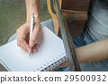 Music Composer Hand Writing Songs 29500932