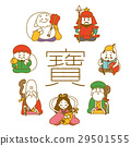 the seven deities of good fortune, mascot, lucky charm 29501555