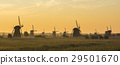 Kinderdijk in the morning with sunrise 29501670