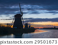 Kinderdijk with five windmills 29501673