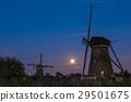 Kinderdijk with two windmills 29501675