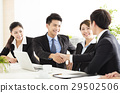 business people shaking hands during meeting 29502506