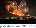 나라 와카 쿠사 구이와 불꽃 놀이 2017 비교 설명 합성 29502712