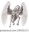 Pegasus Unicorn Winged Horned Horse 29503171