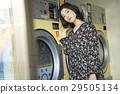 硬幣洗衣潛伏期婦女 29505134