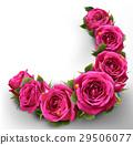Roses Flowers Festive Border Concept 29506077