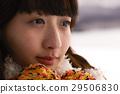 冬季女孩旅程雪景區湖畔 29506830