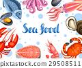 海鲜 矢量 矢量图 29508511