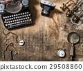 Vintage typewriter photo camera still life  29508860