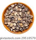 shiitake mushroom in wooden bow 29510570