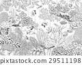 vector, coral, fish 29511198
