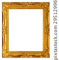 aged, frame, gold 29512996
