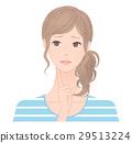 成熟的女人 一個年輕成年女性 女生 29513224