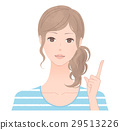 A woman pointing to a finger 29513226
