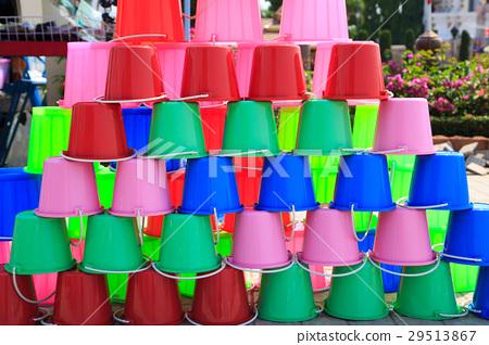 Buckets of water for Songkran Festival 29513867