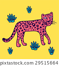 illustration of leopard, graphic vector animal 29515664