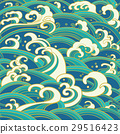 seamless pattern with water waves and splashes 29516423