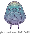 Vector poster with walrus totem 29516425