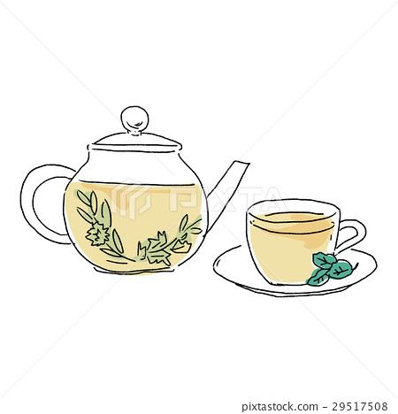 herbal tea, vector, vectors 29517508