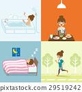 건강한 생활 습관 젊은 여성 29519242