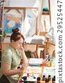 Pensive creative lady 29525447