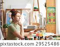 Contemplating artist 29525486