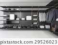 modern loft black walk in closet with shirt and dr 29526023
