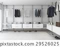 3d rendering minimal white brick walk in closet 29526025
