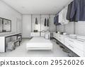 minimal white brick make up room and walk in close 29526026