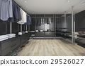 loft dark walk in closet and living room 29526027