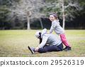 熱身運動 父母和小孩 親子 29526319