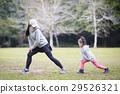 熱身運動 父母和小孩 親子 29526321
