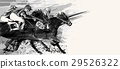 Horse racing over grunge background 29526322