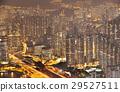 Hong Kong cityscape at night 29527511