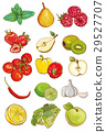 Vector set of fresh vegetables, fruits and berries 29527707