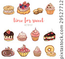 Vector illustration of delicious cakes 29527712