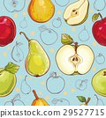 Vector seamless pattern with apples and pears 29527715