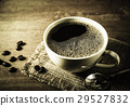 Coffee cup with coffee bean in still life tone 29527832