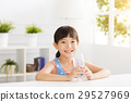 happy Child drinking water from glass 29527969