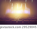vintage theater with lighting spot on stage 29529045